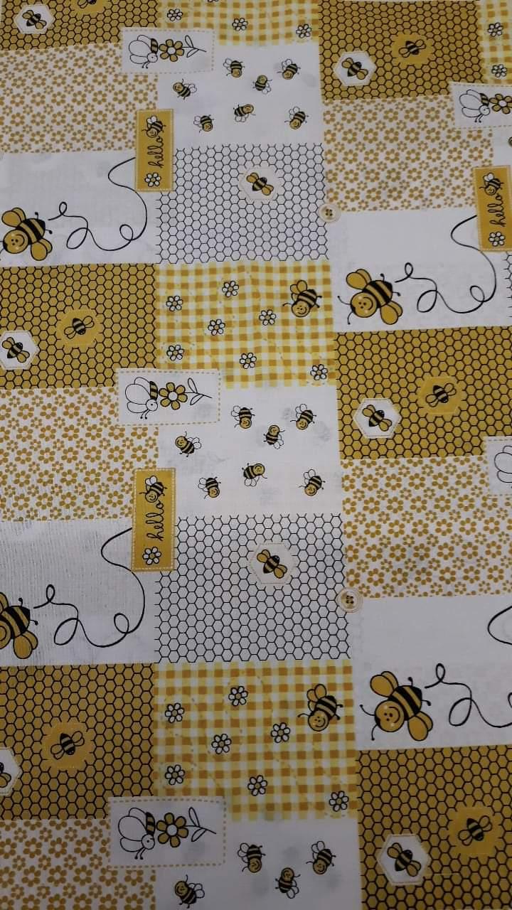 c1cc022d352e včelky žlutý patchwork
